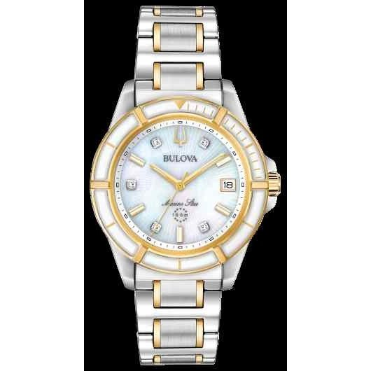 【18%OFF】 ブローバ 腕時計 Bulova Marine Mother 腕時計 Star Of Stainless Steel White ホワイト Mother Of Pearl レディース Watch 98P186, beauty story:96a3d6f5 --- airmodconsu.dominiotemporario.com