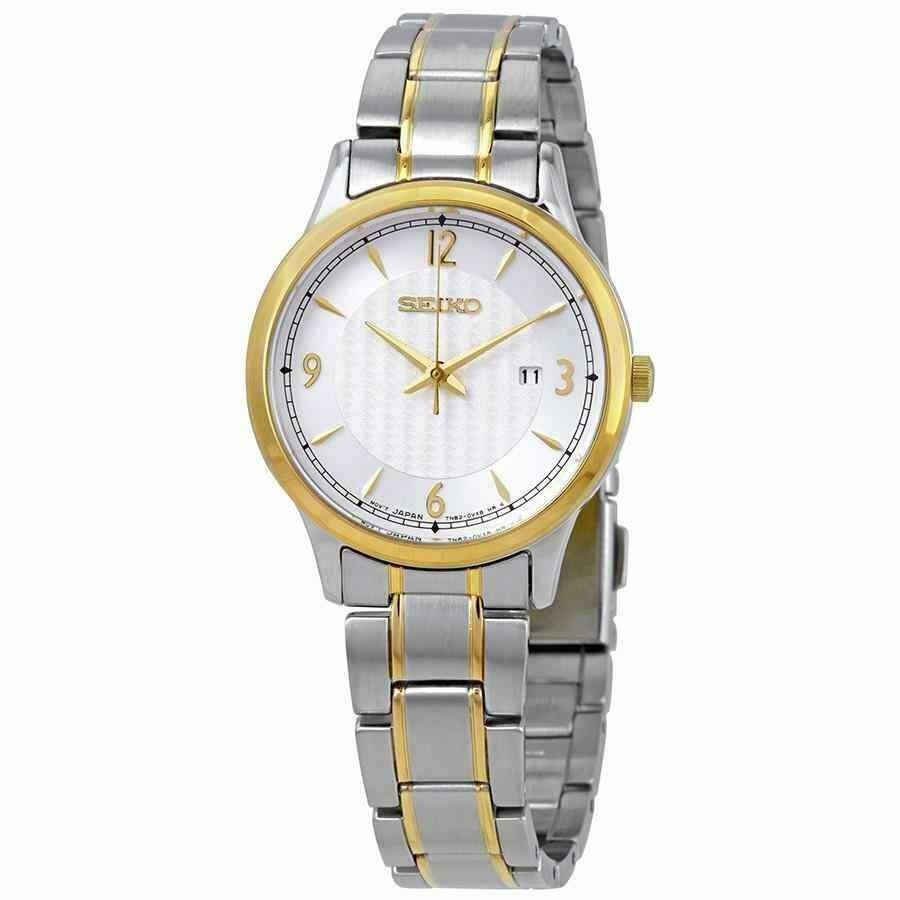 激安先着 セイコー 腕時計 Seiko SXDG94P1 Ladies Two-Tone 100m WR Date Bracelet Watch, I.C(アイシー)さくら 1276f882