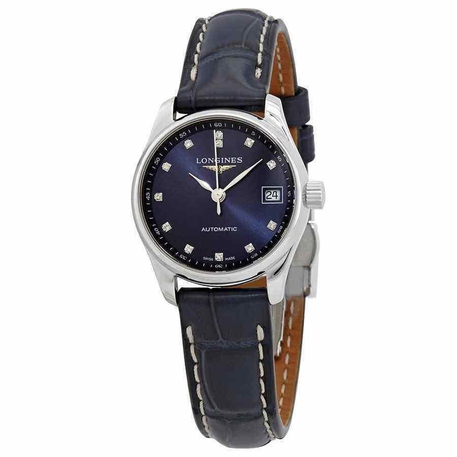 お待たせ! ロンジン 腕時計 Longines Master Automatic Diamond Blue Dial Ladies Watch L2.128.4.97.0, 彦根市 ecccf7ce