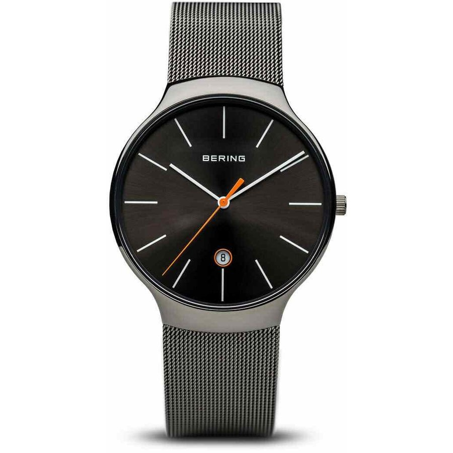 玄関先迄納品 ベーリング 腕時計 Bering Time Watch - Classic クラシック - ユニセックス Polished Grey 13338-077, 中古タイヤホイールのover drive bd50a873