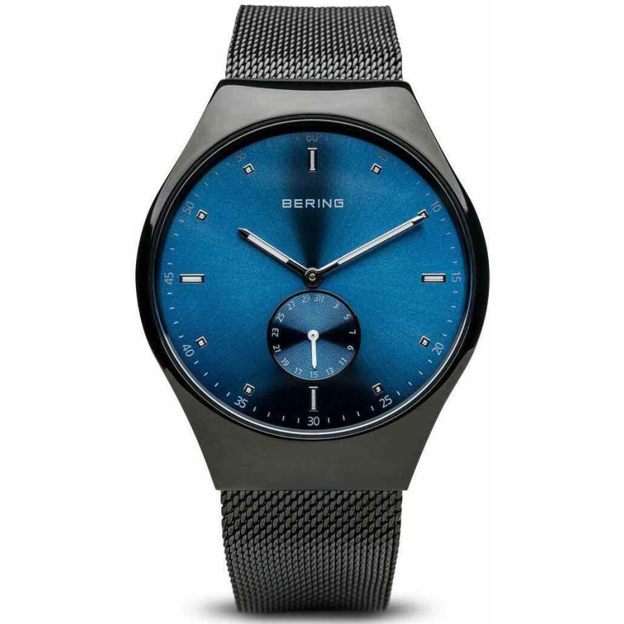 人気 ベーリング 腕時計 Bering Time Smart Voyageur Hommes Brosse Noir & Bleu Montre Bluetooth 70142-227, Momo Select 4a7152df
