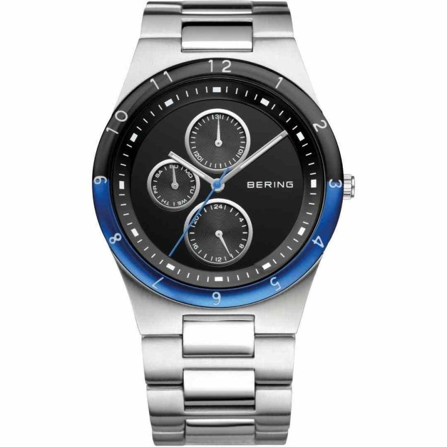 驚きの値段 ベーリング 腕時計 Bering Time Flat メンズ Watch with Sapphire Glass 32339-702, 海鮮かに処 ffb4cfd3