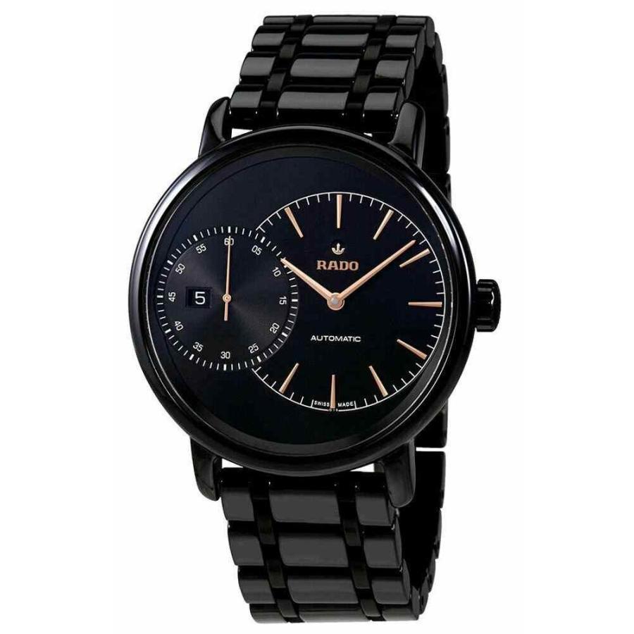 最高の品質 ラド― 腕時計 R14127152 Rado Automatic DiaMaster Rado Grande Seconde Black Dial Automatic Ceramic メンズ Watch R14127152, ティーエスパーツ:c1f0742a --- airmodconsu.dominiotemporario.com