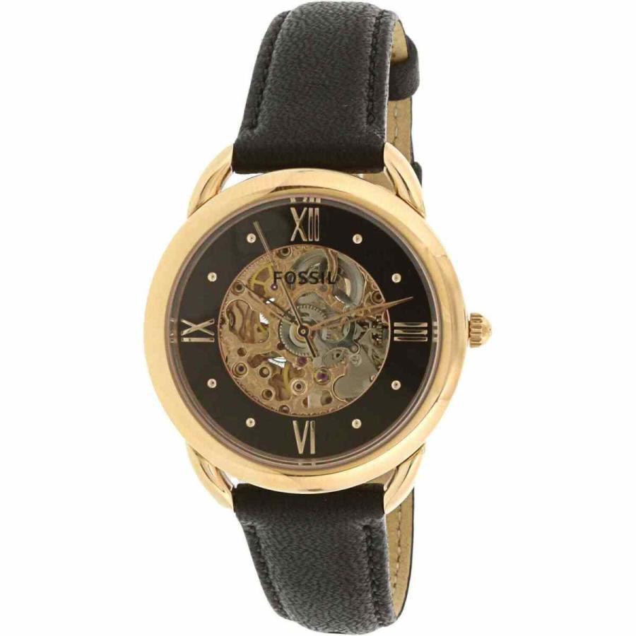 【高価値】 フォッシル 腕時計 Fossil レディース Tailor Fossil ME3164 Tailor Leather Black Leather Automatic Self Wind Dress Watch, DENIM LIFE:325ae4a3 --- airmodconsu.dominiotemporario.com