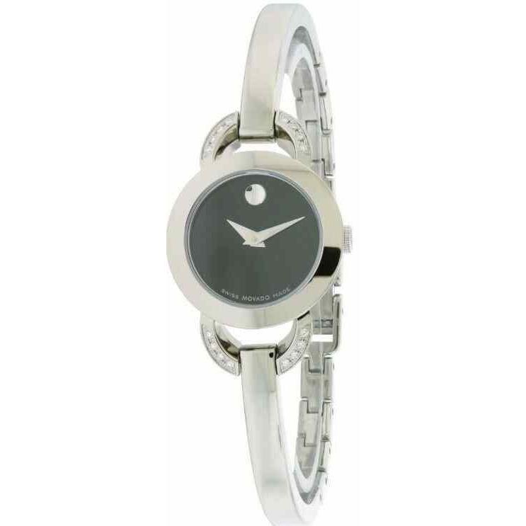 人気提案 モバード 腕時計 Movado Rondiro 0606798 Black Dial Stainless Steel レディース Watch, めたるの国夢工房 0fb6c5c6