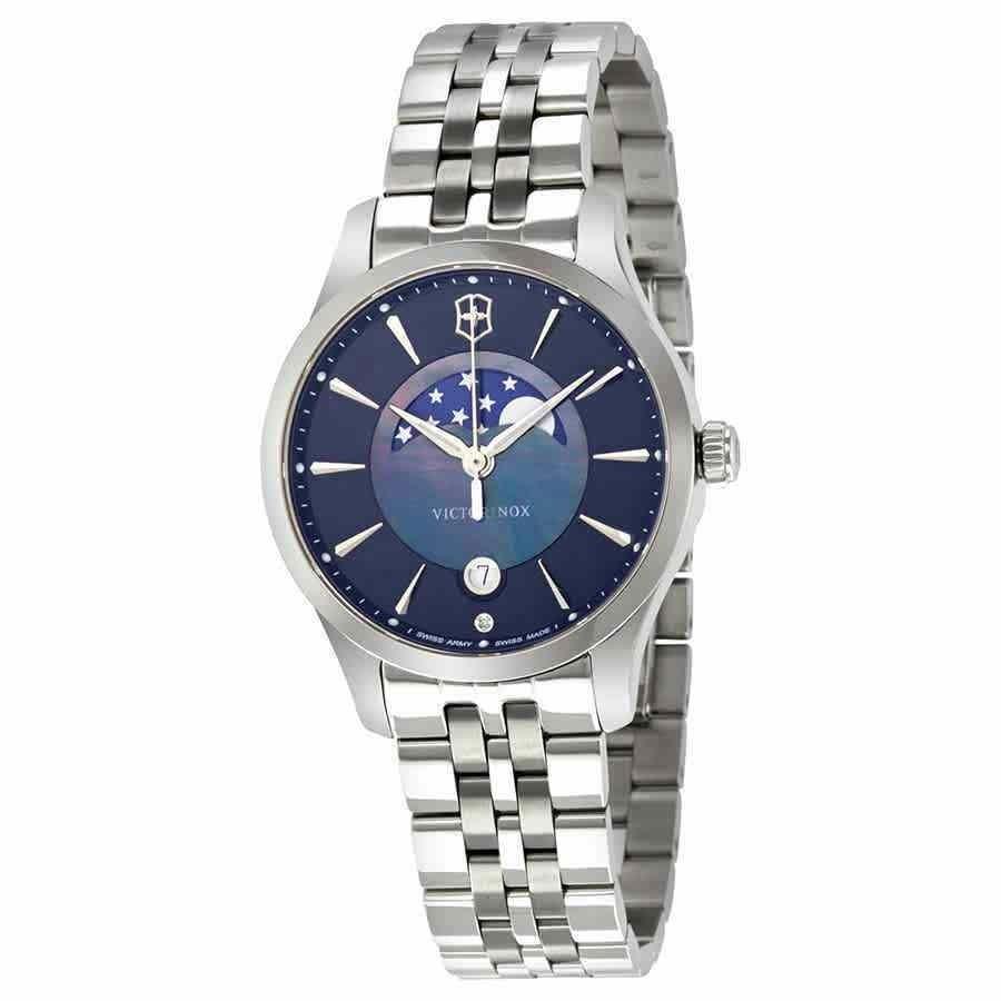 2019年最新海外 ビクトリノックス 腕時計 Blue Victorinox 腕時計 Dial Swiss Army Alliance Small Blue Dial Ladies Watch 241752, KIRARA by shin:0776c562 --- airmodconsu.dominiotemporario.com