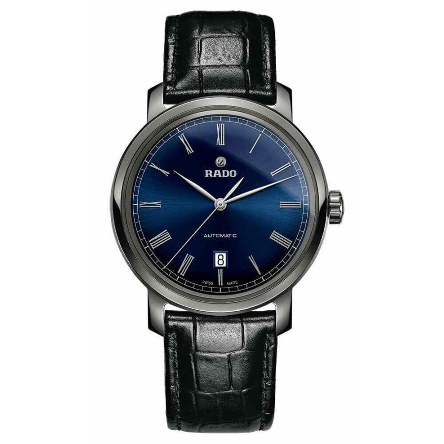【返品交換不可】 ラド― 腕時計 Rado DiaMaster Blue Dial Black Leather Ceramic Automatic メンズ Watch R14806206, イチカワダイモンチョウ c0b10c4e