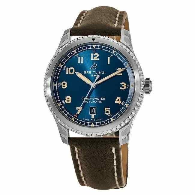 大きな割引 ブライトリング Aviator 腕時計 New Breitling Aviator A17315101C1X1 8 Automatic 41 Blue 8 Dial メンズ Watch A17315101C1X1, ポスターパネルと看板のウリサポ:c804ce47 --- airmodconsu.dominiotemporario.com