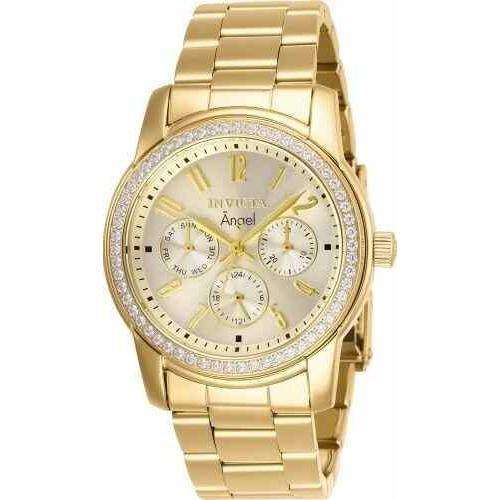 生まれのブランドで インビクタ 腕時計 Invicta レディース 11770 Angel Gold Dial 18k Gold Ion-plated Stainless Steel Watch インヴィクタ, ヒガシカグラチョウ 48afddd5