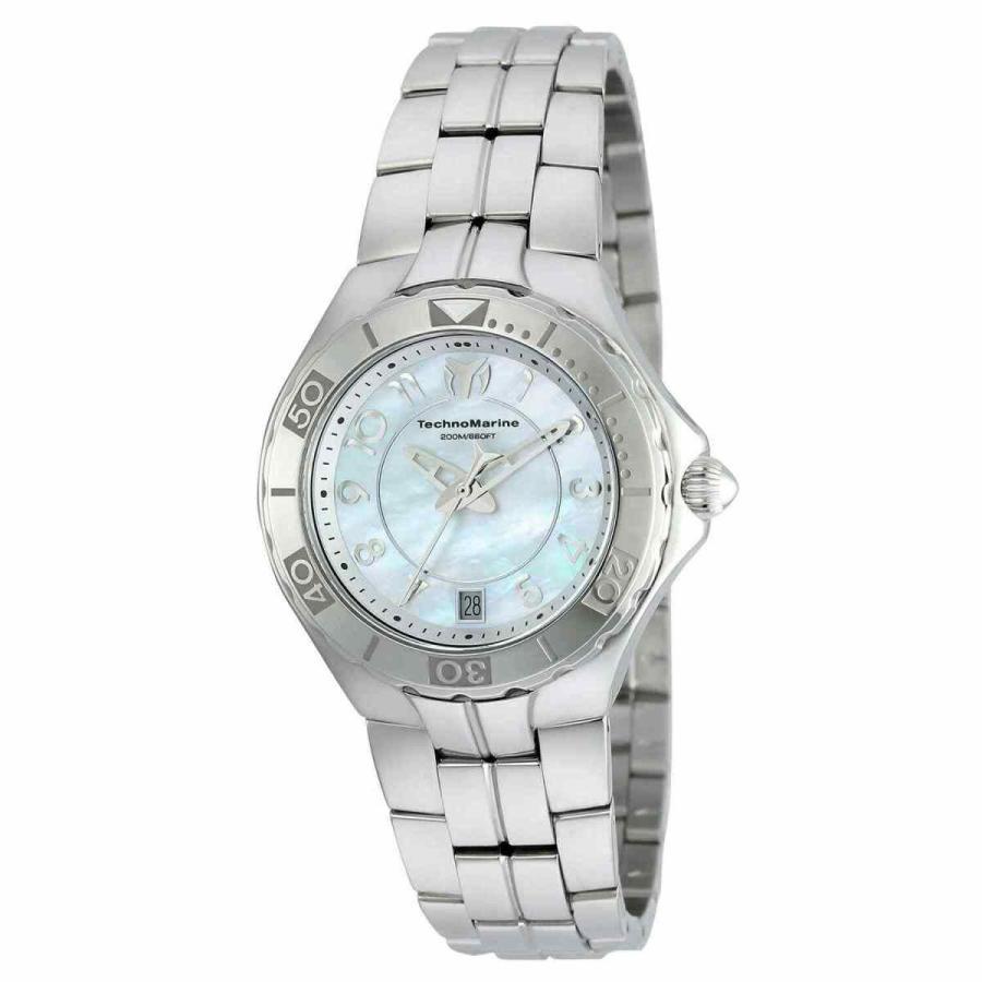衝撃特価 テクノマリーン 腕時計 Technomarine レディース Sea Pearl TM-715012 Silver Stainless-Steel クォーツ Fashio..., おせんべいの金吾堂 31d95395