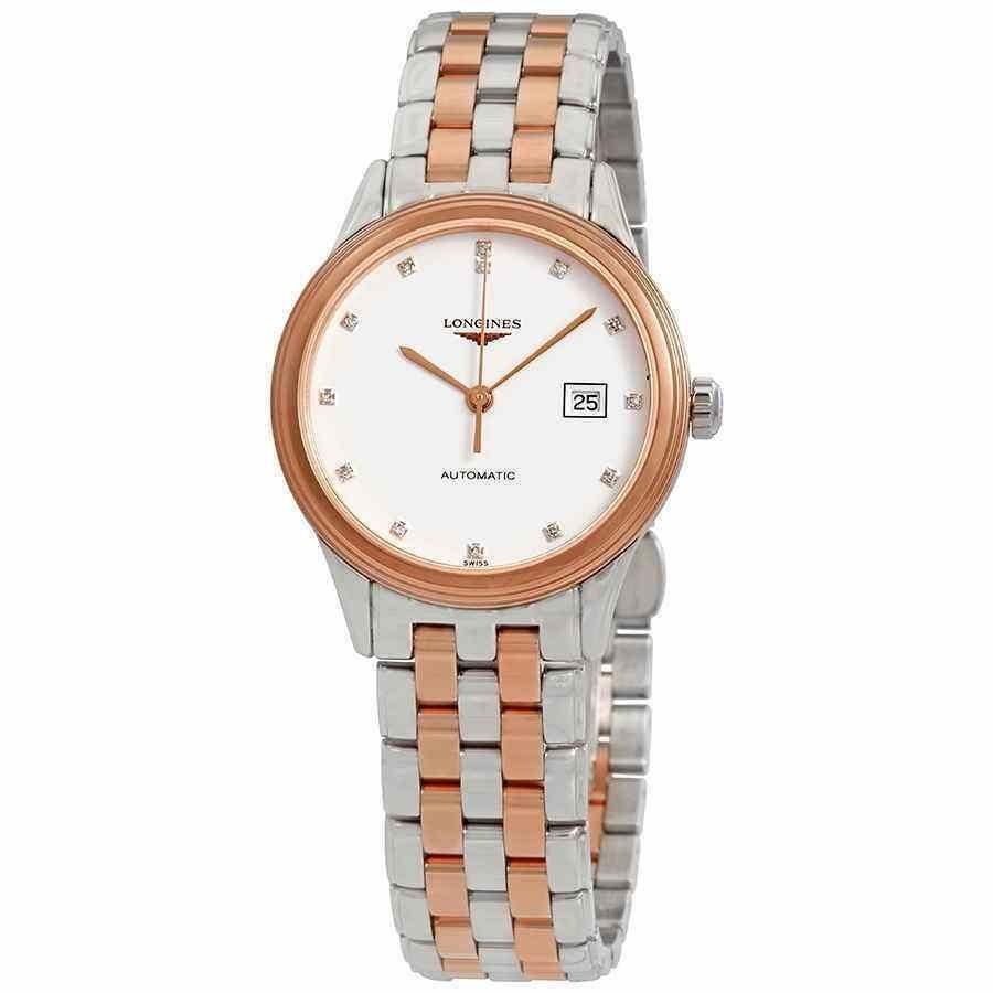 【はこぽす対応商品】 ロンジン 腕時計 ロンジン Longines Flagship Automatic Automatic Diamond L4.374.3.99.7 White ホワイト Dial Ladies Watch L4.374.3.99.7, 時津町:4f84bee3 --- airmodconsu.dominiotemporario.com