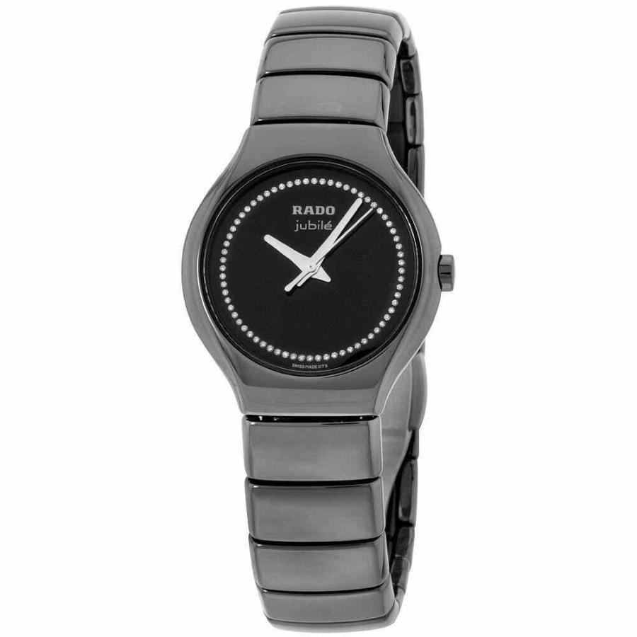 新作モデル ラド― 腕時計 Rado True クォーツ Movement Black Dial Ladies Watch R27655732, Ryu-en 6be4307e