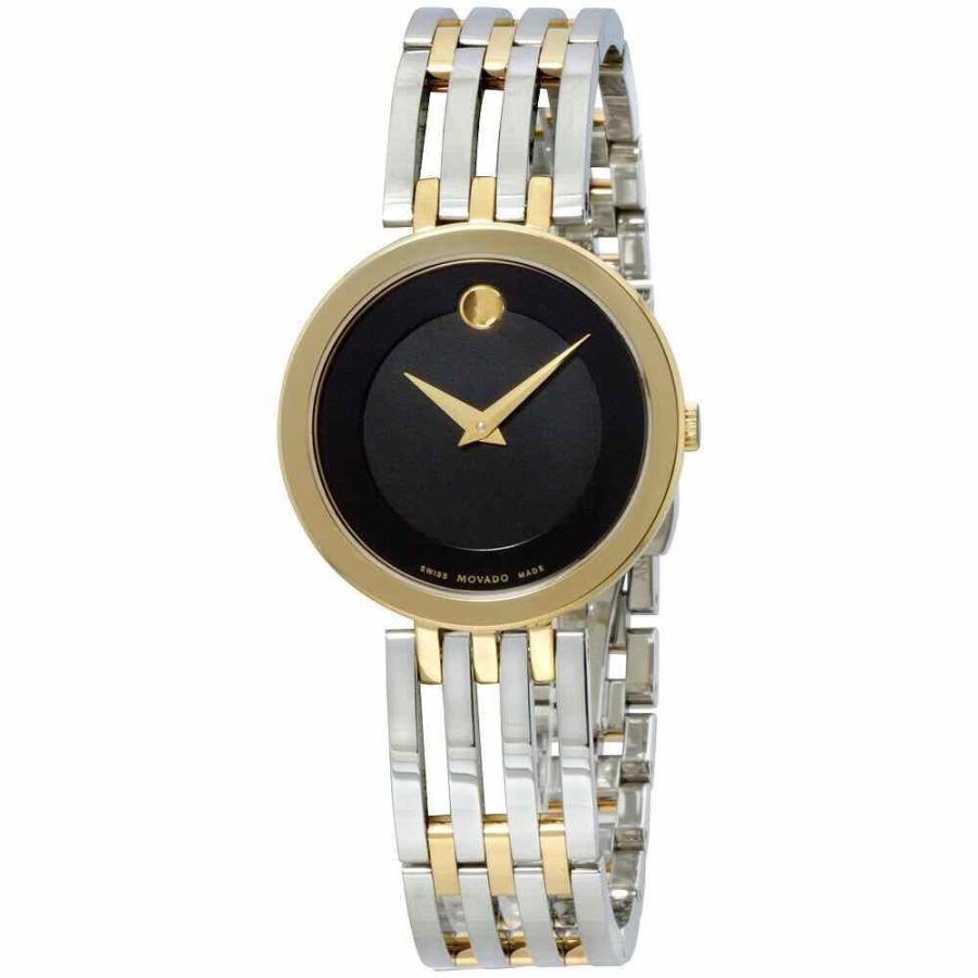 当店の記念日 モバード 腕時計 Movado Esperanza クォーツ Movement Black Dial Ladies Watch 607053, SENEN ZAKKA 2867d5b1