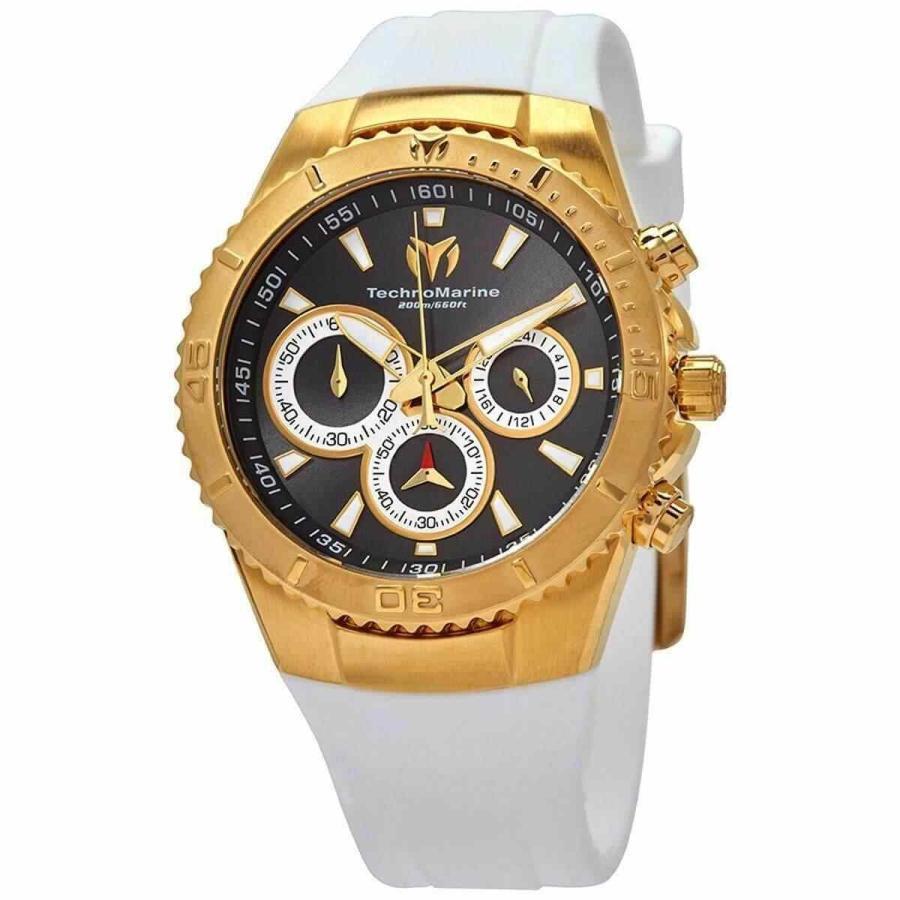 開店記念セール! テクノマリーン 腕時計 Technomarine レディース Watch Sea Manta Chrono Charcoal Dial White ホワイト Strap TM-218038, キッズマーケット 1abd33f7