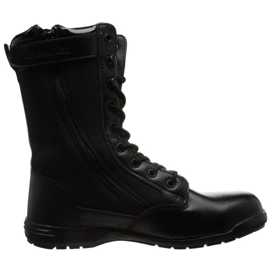 福山ゴム ファスナー付ハイカット安全靴 アローマックス#89 ブラック 28.0cm