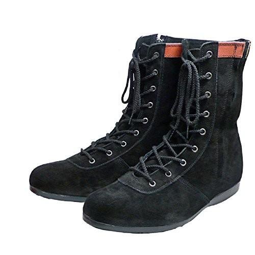 ATENEO L53H1 チャック付オールハトメ 高所作業安全靴 黒 サイドファスナー付き JISマーク認定 日本製 青木安全靴 (26.5