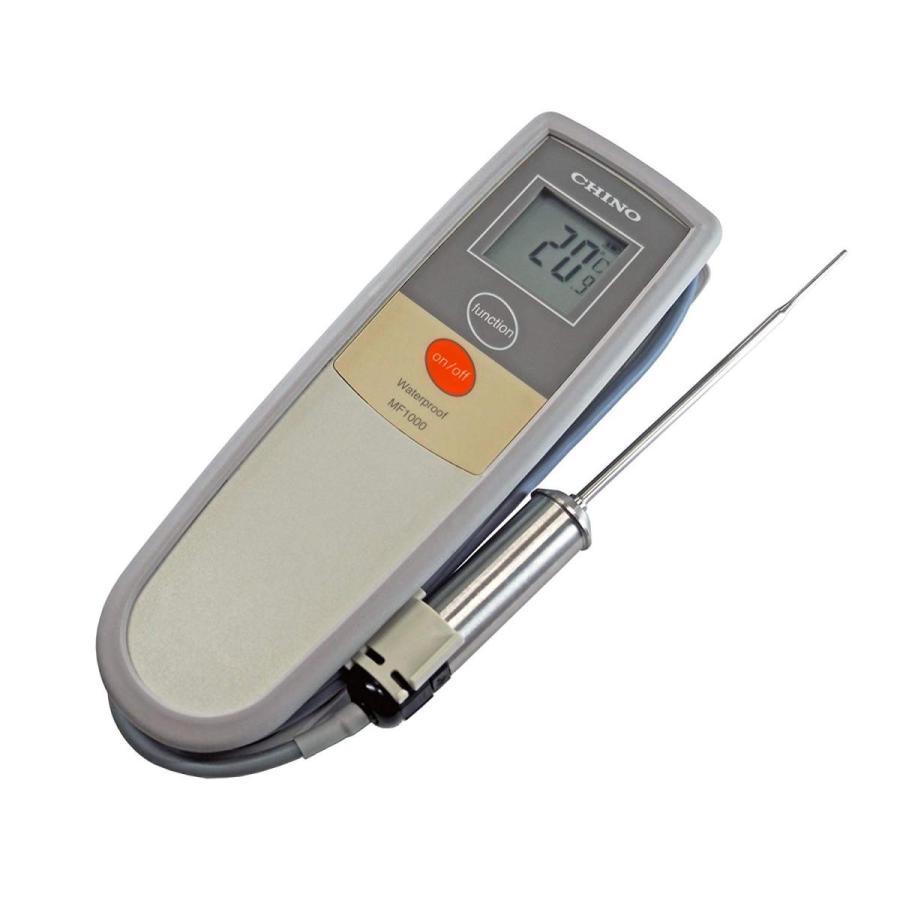 CHINO 食品用デジタル芯温計 金属グリップ MF1000‐M