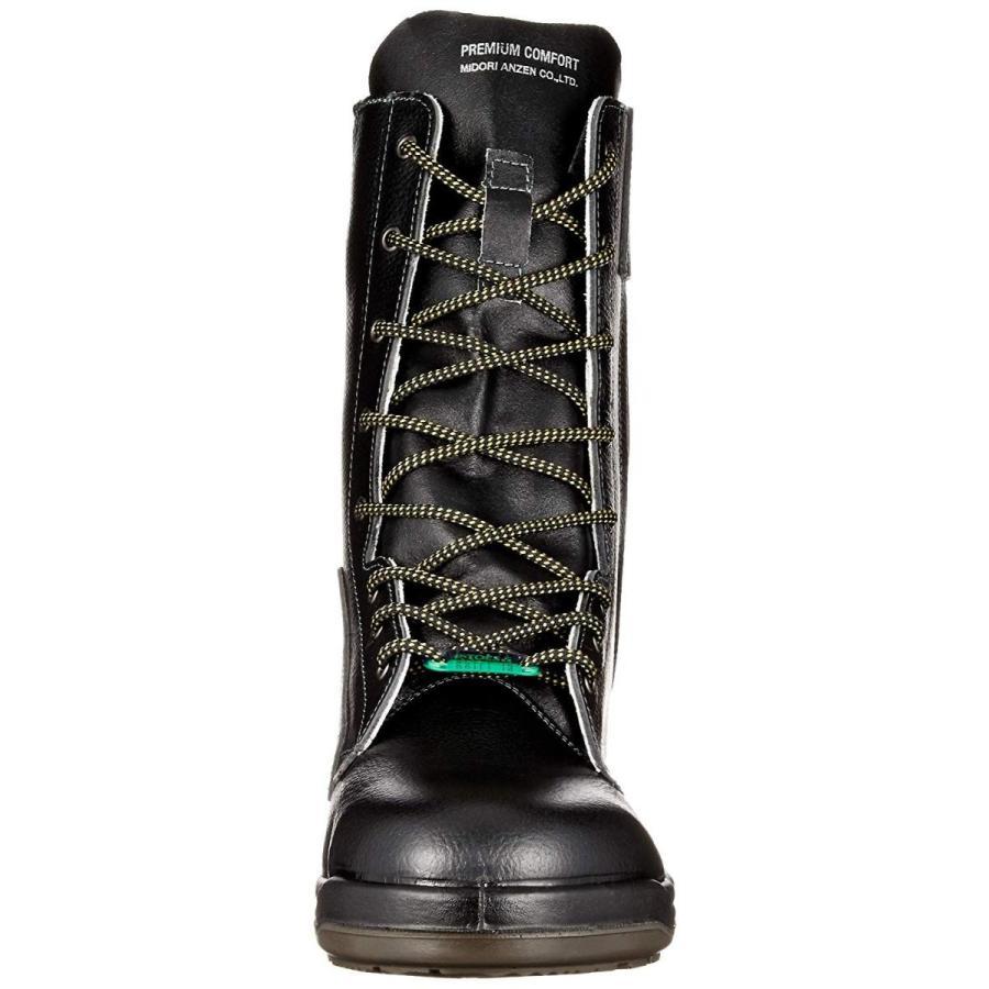 ミドリ安全 静電安全靴 JIS規格 長編上靴 プロテクトウズ5 PCF230FN オールハトメ 静電 ブラック 26 cm 3E