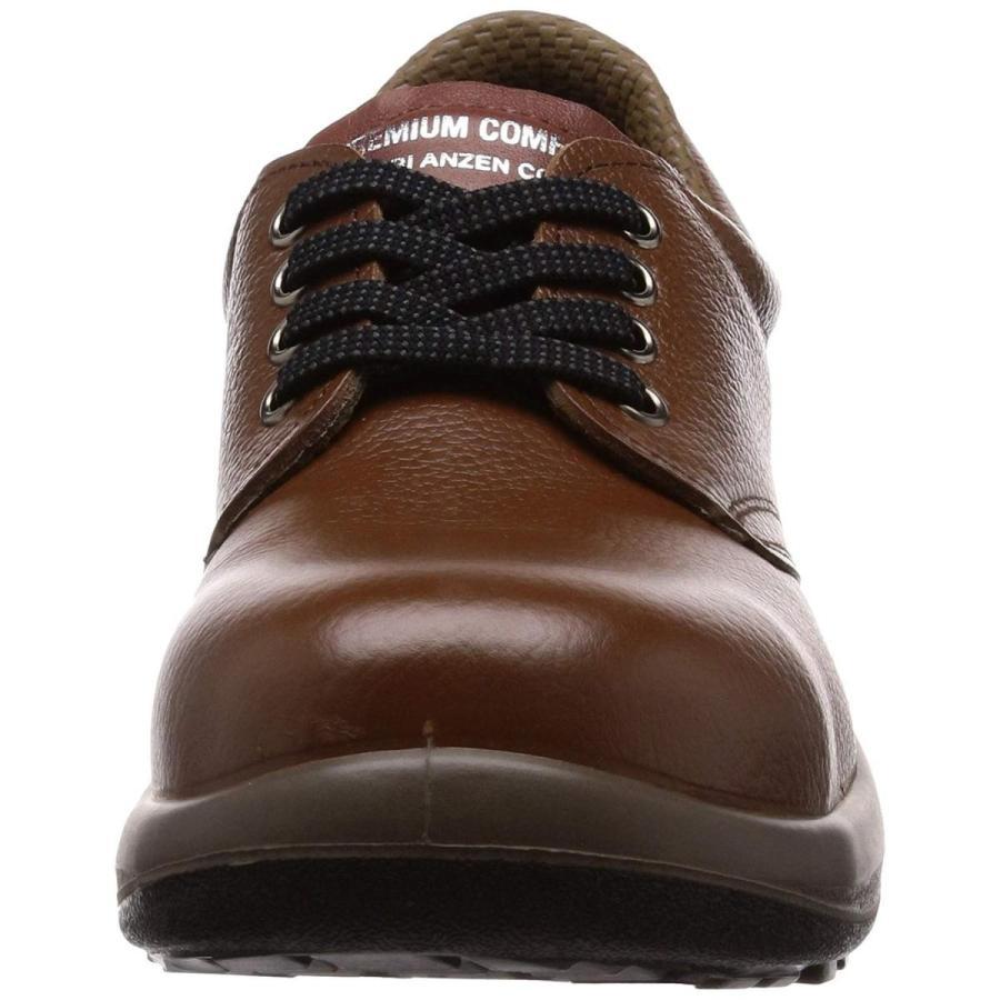 ミドリ安全 安全靴 短靴 プレミアムコンフォート LPM210 ブラウン 25.0cm(女性用)