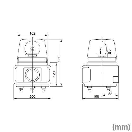 パトライト ホーンスピーカー一体型電子回転灯ラッパッパ AC100V Aタイプ 赤 RT-100A-R