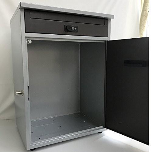 ケイ・ジー・ワイ工業 宅配ボックス リシム シルバー×ブラウン THB-258