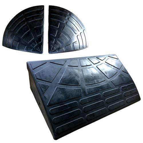ナフサ ゴム製段差プレート DANSAのぼるくん 段差15cm用 お得なスタンダード+両コーナーセット (1個セット)