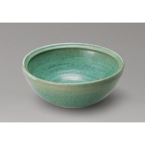 緑釉うずしお手洗鉢 信楽焼 陶器 置物 ガーデンパン