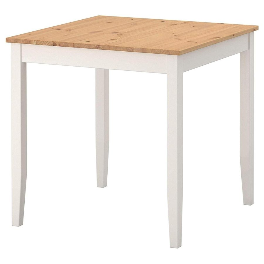 LERHAMN テーブル, ライトアンティークステイン, ホワイトステイン 003.657.16