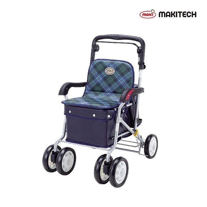 シルバーカー ボックスタイプ おしゃれ 買収 カバー 緑チェック ノーブル ENB-011G 激安通販販売