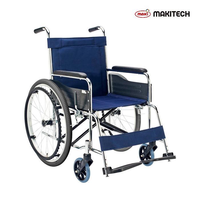 車椅子 自走式車椅子 折りたたみ 新作通販 スチール 背固定 日本製 車いす エコノミーシリーズ ノーパンクタイヤ EX-10S