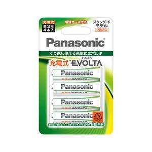 パナソニック 充電式エボルタ 単3形 送料込 海外限定 4本パック 目安在庫=○ 4BC BK-3MLE スタンダードモデル