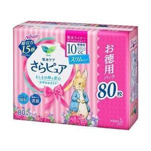 花王(kao) ロリエ さらピュア10cc無香料 スーパージャンボパック 80枚 取り寄せ商品|nanos