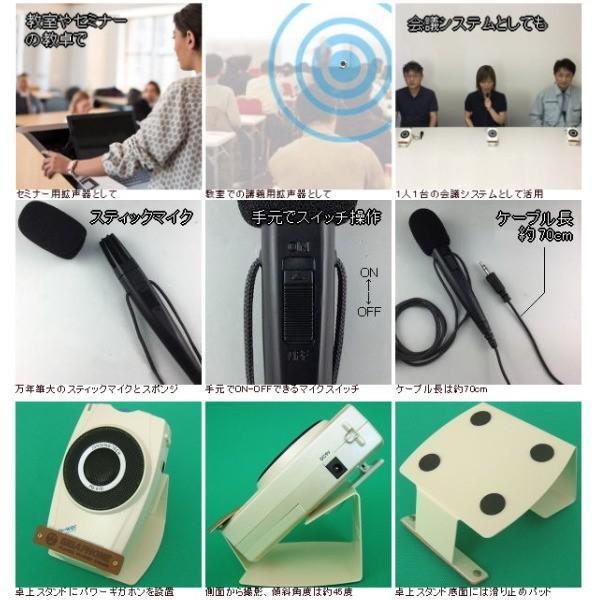 【レンタル1泊2日】卓上型拡声器(RENT-4DST)スティックマイク付属|nanzu|03