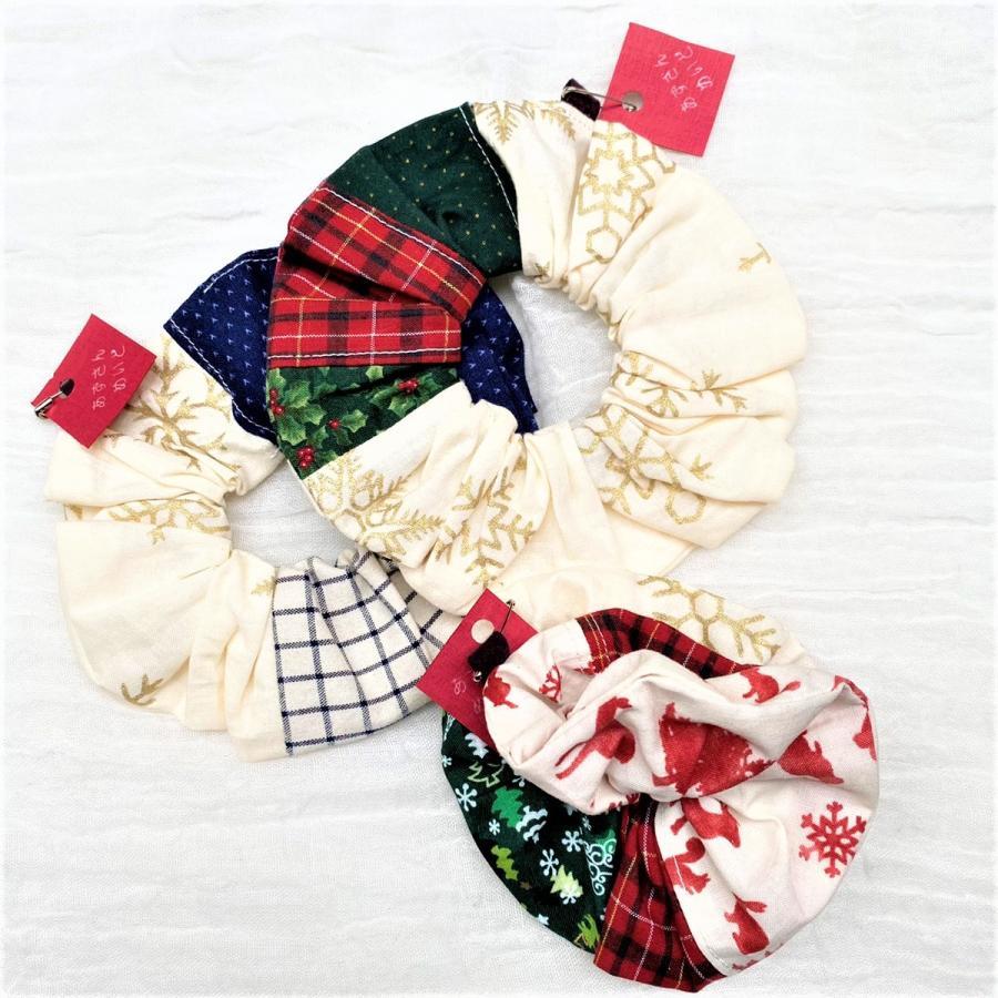 シュシュ 髪飾り 冬 クリスマス |naorelax