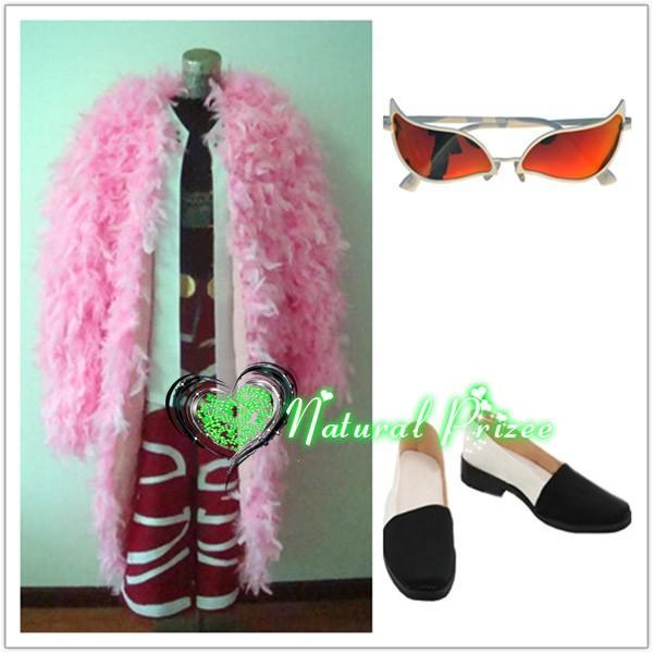 コスプレ衣装+眼鏡+靴 ワンピース ドンキホーテ・ドフラミンゴ 変装/仮装/華麗/高品質