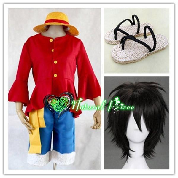 コスプレ衣装+ウイッグ+靴 ワンピース モンキー・D・ルフィ 2年後 変装/仮装/華麗/高品質