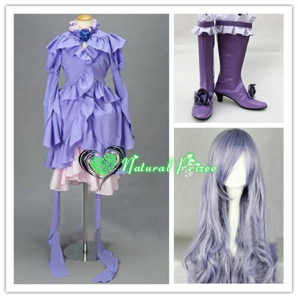 コスプレ衣装+ウイッグ+靴 ローゼンメイデン Rozen Maiden 薔薇水晶 変装/仮装/華麗/高品質