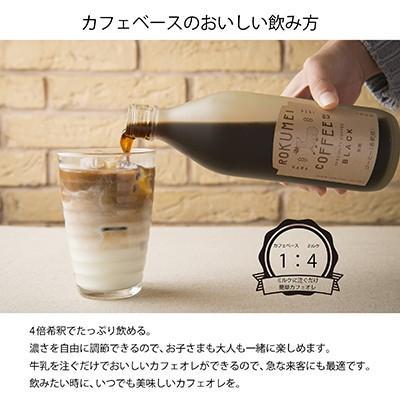 ロクメイコーヒー スペシャルティコーヒー カフェベース 2本 ギフト お盆 御中元 送料無料 無添加 コーヒー 希釈 無糖 ブラック 加糖 珈琲 naranokoto 05