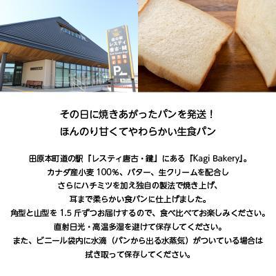黄金の生食パン 極 角型・山型 1.5斤 食べ比べセット 焼きたて 美味しい 高級食パン お取り寄せ ブレッド 朝食 KagiBakery カギベーカリー naranokoto 02