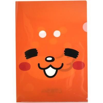 【奈良みやげ】★奈良しかまろくん A4 クリアファイル オレンジ(顔)|narazake
