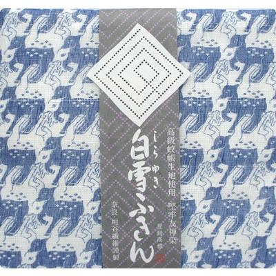 【奈良みやげ】友禅染 白雪ふきん 鹿 (ネイビー)|narazake