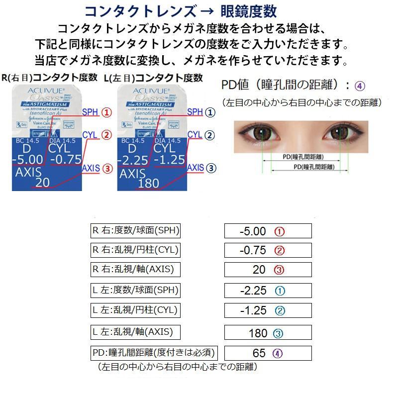 度付きメガネ ブルーライトカット 近視 乱視 遠視  軽量フレーム 弾性フレーム  N112 nare-megane 14