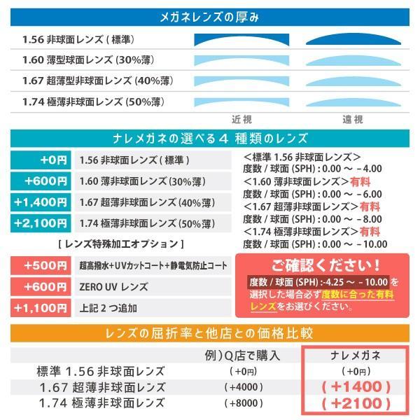 度付きメガネ ブルーライトカット 近視 乱視 遠視  軽量フレーム 弾性フレーム SELECT nare-megane 06