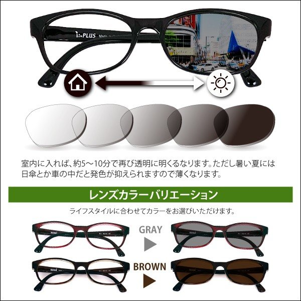 度付きメガネ 調光 福袋 nare-megane 06