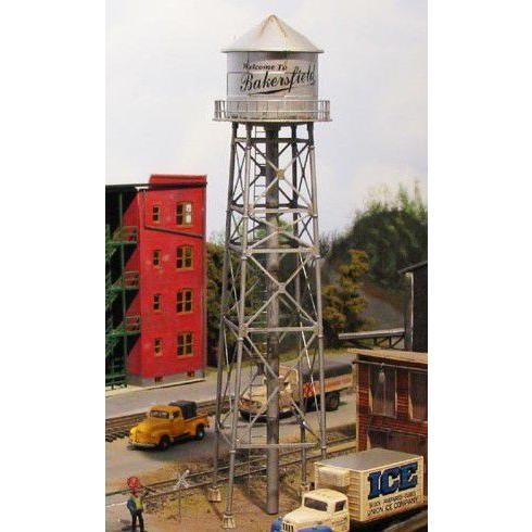 バーミルズ HOスケール レーザーカット ストラクチャー組み立てキット 「Industrial Water Tower」 / シルバー