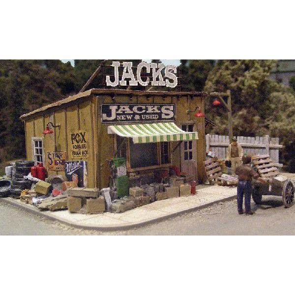 バーミルズ HOスケール レーザーカット ストラクチャー組み立てキット 「Jack's Back Yard」