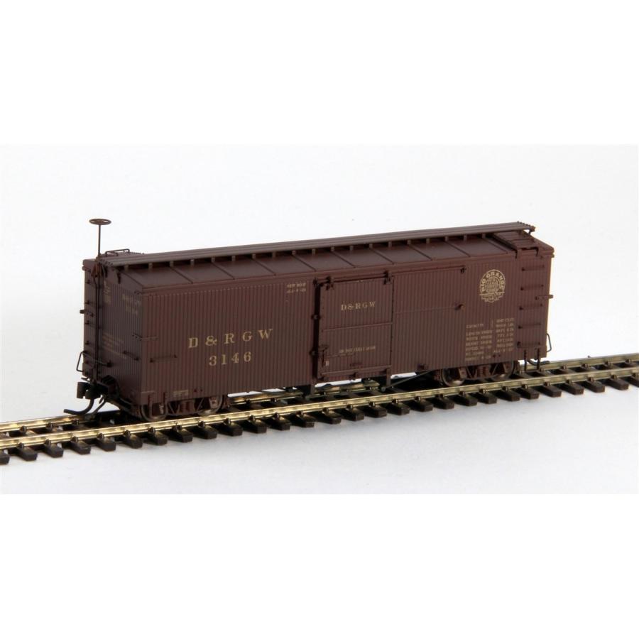 ブラックストーンモデルス B-340128W HOn3 10.5mm 3000 Series Box Car, D&RGW, Moffat Tunnel Herald #3146 (ウェザリング仕様)