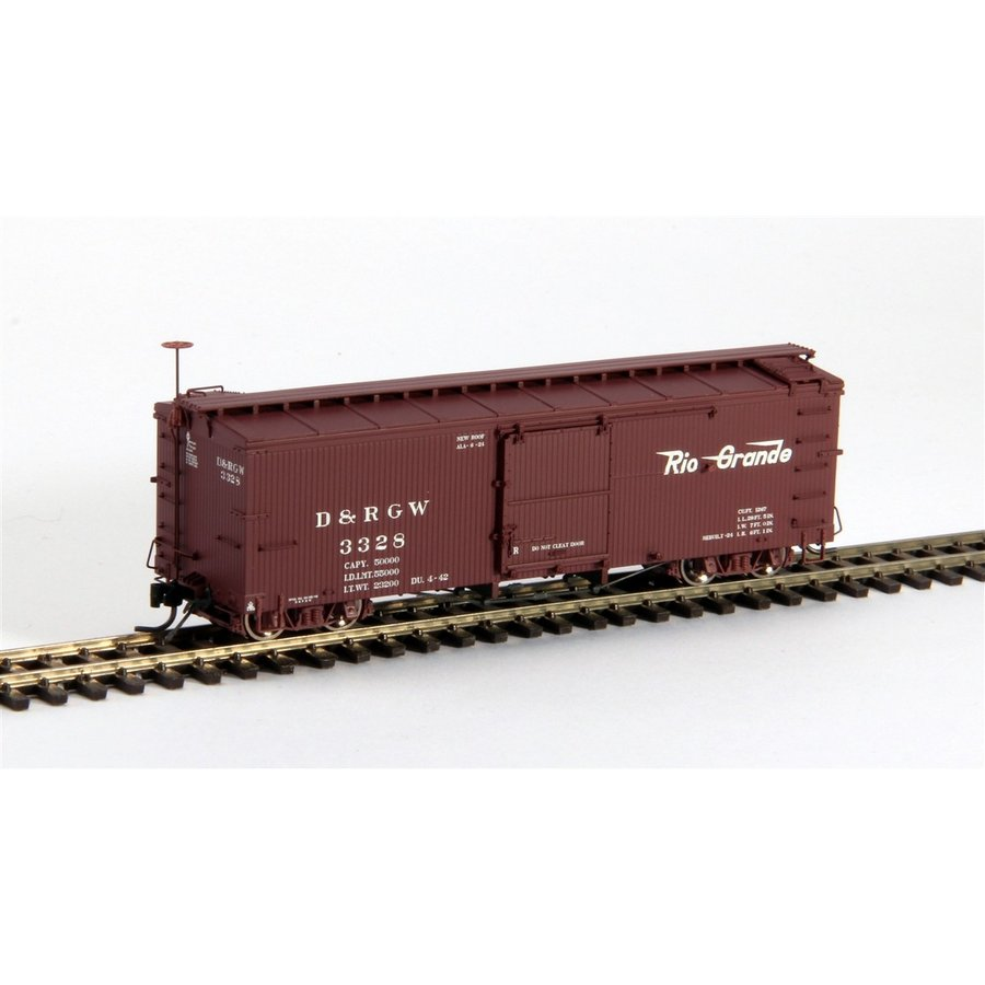 ブラックストーンモデルス B-340131 HOn3 10.5mm 3000 Series Box Car, D&RGW, Flying Grande Herald #3426