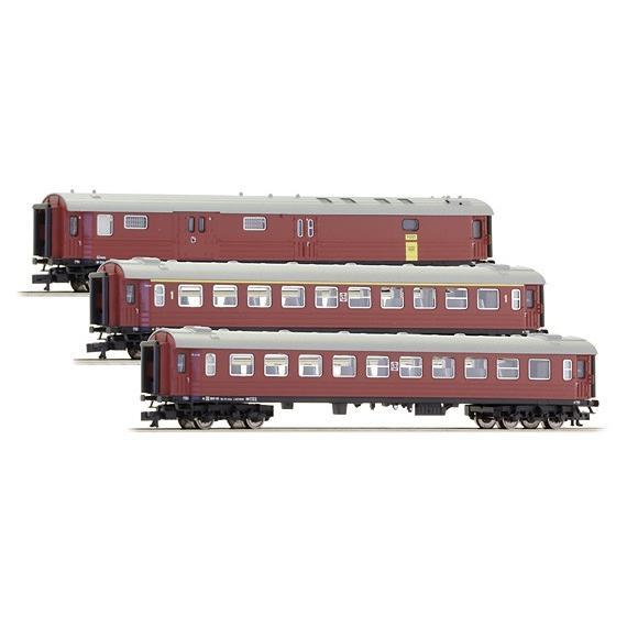 Fleischmann/フライシュマン 817004 N (9mm,1/160) 客車/荷物車セット Type A3, B3, DF 39