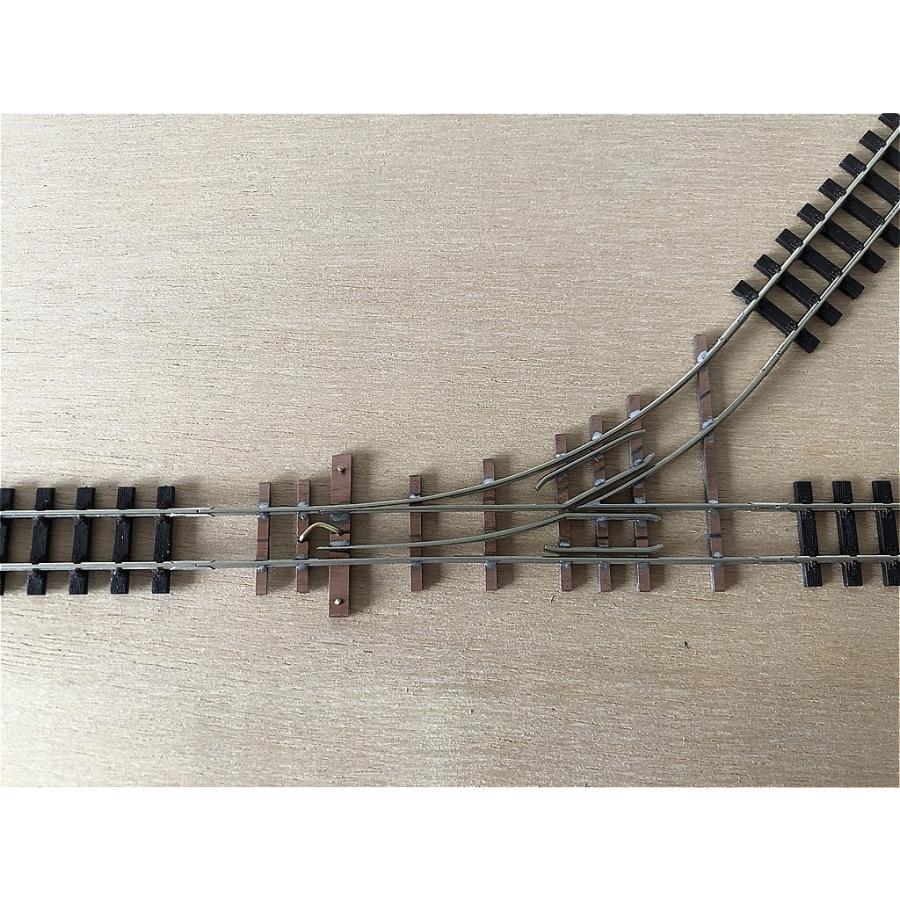 【PECO互換】HOナロー(9mm) オリジナルポイントレール(左) R100mm コード80 エレクトロフログ(篠原模型方式)【極小半径】|narrow-gauge-shop|07